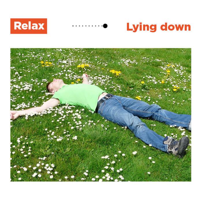 5 lying down