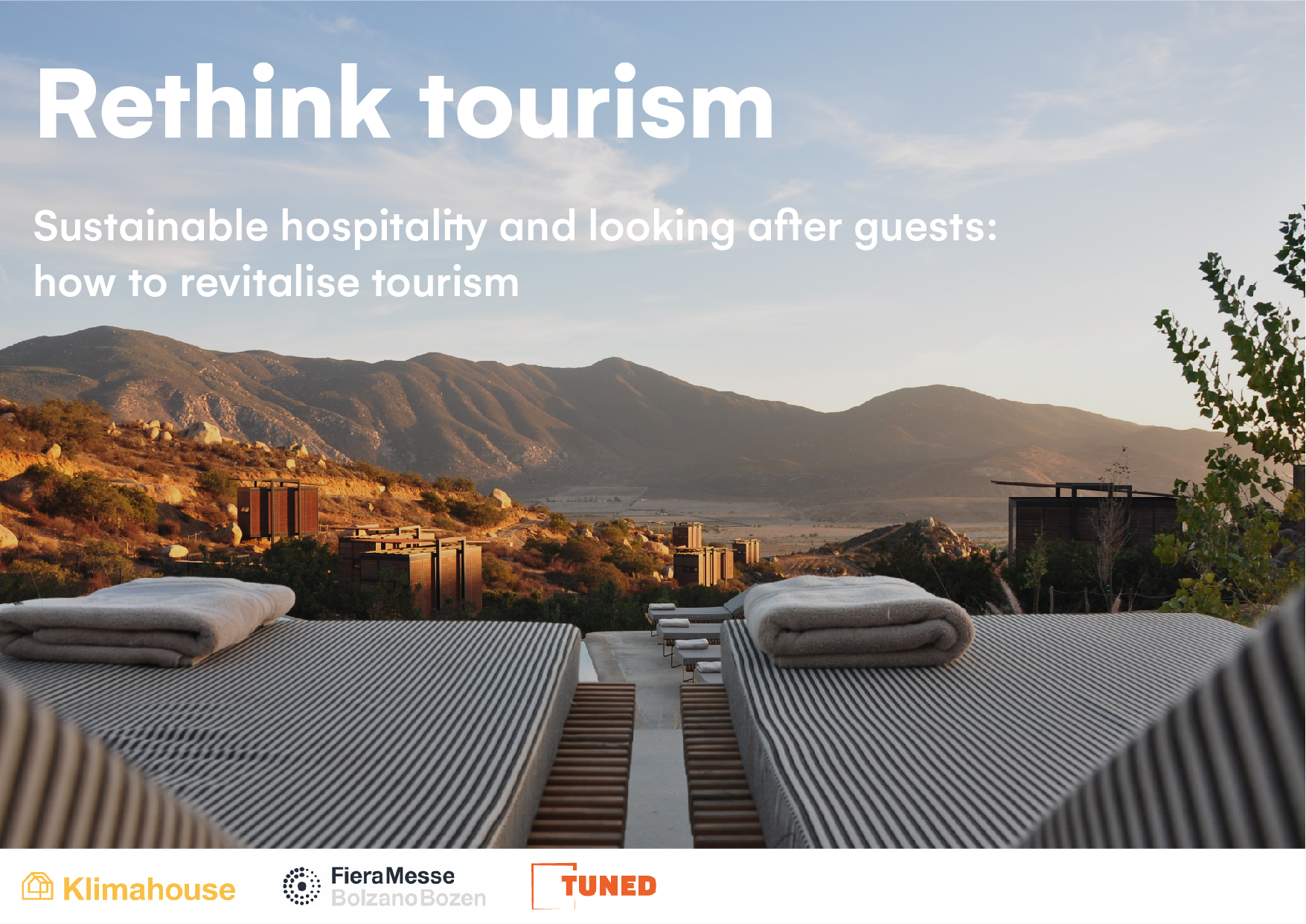 Sustainable hospitality and looking after guests: how to revitalise tourism - TUNED KlimaHouse Cover ENG 201110