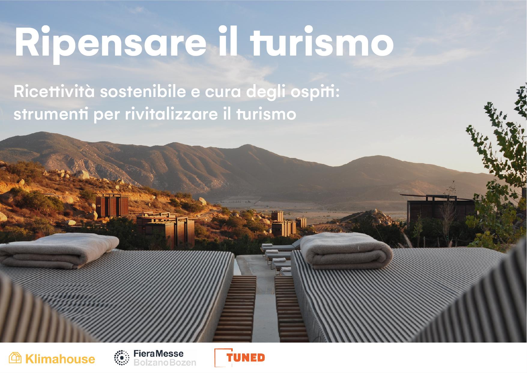 Ricettività sostenibile e cura degli ospiti: strumenti per rivitalizzare il turismo - TUNED KlimaHouse Cover ITA 201110 V.2