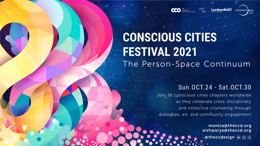 Urban emotions - ccf2021 promo poster the person space continuum with logos2